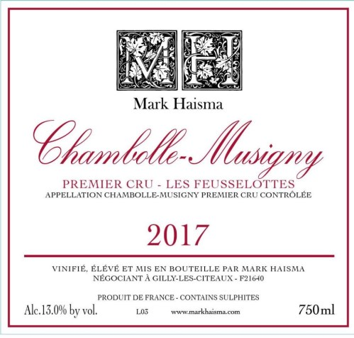 2017 Chambolle Musigny 1er Cru Les Feusselottes, Mark Haisma | Image 1