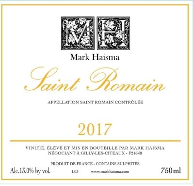 2017 St Romain Blanc, Mark Haisma